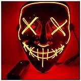 Alxcio Halloween la maschere Spaventoso EL Wire Cosplay Maschera, Led Light Up Maschera per il Costume di...