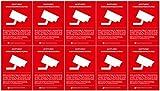 10x DSGVO BDSG Datenschutz-Aufkleber   Hinweis Achtung! Video-Überwacht Video-Überwachung A8 (5,2 x 7,4 cm)