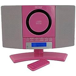 Denver MC 5220Chaîne Hi-Fi stéréo Lecteur CD AUX Radio tuner radio FM/MW ou CD réveil Mise en Veille programmable