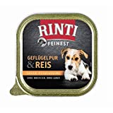 Rinti Feinest Geflügel Pur & Reis   11x 150g Hundenassfutter