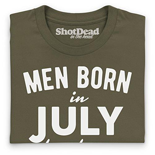 Men Born In July Do It Better T-shirt, Uomo Verde oliva