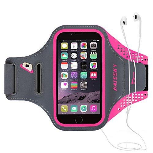 Guzack Fascia da Braccio Sportiva Running, Sports Armband Porta Cellulare Resistente all'acqua, Prova di Sudore con Cinturino Regolabile, per iPhone 6 Plus/7 Plus/8 Plus, Samsung, Galaxy, Huawei