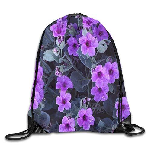 a428192618 tgkze Drawstring Backpack Gym Bag Travel Backpack Violets Purple Small  Drawstring Backpacks For Women Men Adults