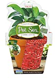 Misco Home & Garden PSX10/12-3 Pot Sox, 10-Inch, Red Mosaic Tile