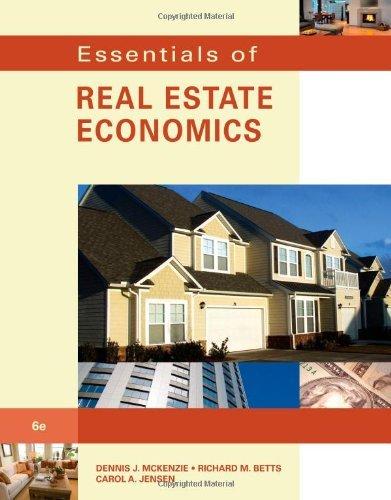 Essentials of Real Estate Economics by Dennis J. McKenzie (2010-10-04)
