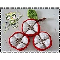 PUZZLE BALL MONTESSORI MANZANA GANCHILLO AMIGURUMI PERSONALIZABLE (Bebé, crochet, ganchillo, muñeco,