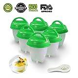 6er Eierbecher Set - Multifunktionale Eierhalt Antihaft-Eierkocher FDA-zugelassen von Gesundhome