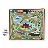 Melissa & Doug Spielteppich (100 x 90 Zentimeter) - Stadt und Straßen mit Autos (5 Teile)