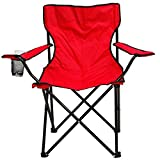 Story@Home Quad Portable Folding Camping Chair, Red
