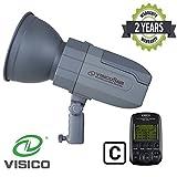 VISICO 5 Canon 400W TTL HSS Outdoor Studioblitz mit Trigger | 2.4G Mehrkanal - Funkübertragung | Lithium - Ionen - Akkupack | Schnellrecycling | Tragbarer Speedlite Blitzkopf