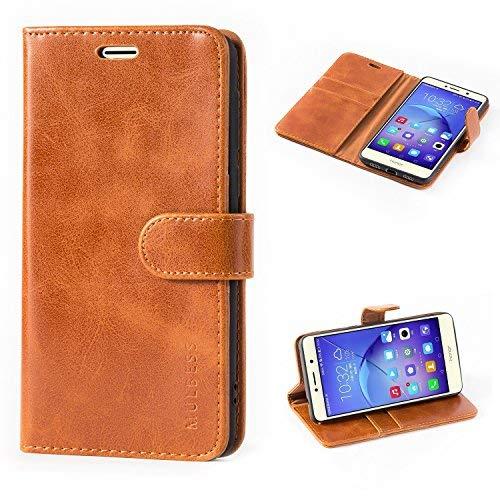 Mulbess Ledertasche im Ständer Book Case / Kartenfach für Huawei Honor 6X Tasche Hülle Leder Etui,Braun