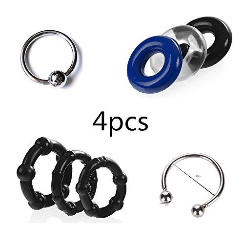 4pcs anillo del grifo erección eyaculación precoz IMPOT Aid Delay