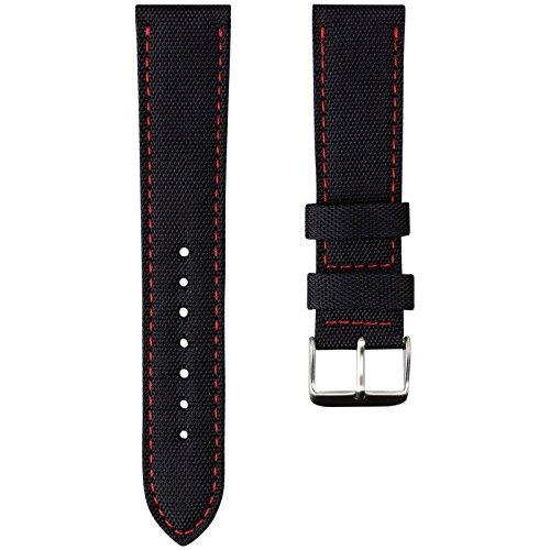 correa-de-reloj-geckotar-de-nailon-acolchado-deportiva-y-duradera-negra-con-pespuntes-rojos-22mm