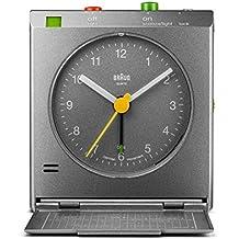 Braun – Despertador de viaje clásico con detector de movimiento, BNC005GYGY, color gris