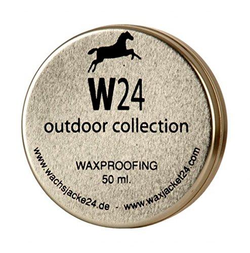 W24 Wachs Imprägniermittel und Pflege-Mittel für Outdoor Wachsjacken, Wachscaps, Wachshüte und mehr 50ml