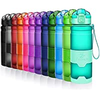 ZOUNICH Trinkflasche 1L Sport BPA frei Auslaufsicher 700ml/500ml/380ml Wasserflasche Kunststoff Sporttrinkflaschen Plastik für Kinder Schule, Fahrrad, trinkflaschen Filter Liter kohlensäure geeignet