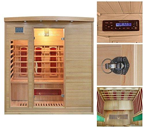 Home Deluxe Tropical XL Infrarotsauna inklusive vielen Extras und Zubehör