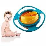 FunRun Gyro Bowl Kinder Dreht Sich des Kreisels, Nicht verschütten-Fütterung-Kleinkind-Kreiselkompass-Schüssel 360 drehende Kinder Vermeiden Nahrungsmittelverschütten