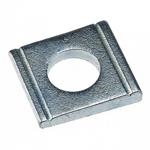 Scheibe DIN 434 Stahl gal verz. ÜH vierkant Neigung 8% keilförmig 9 - 100 Stück