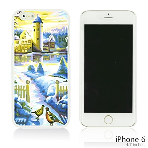 OBiDi - Art Paintings Hardback Case / Housse pour Apple iPhone 6 / 6S (4.7 inch)Smartphone - Vintage Painting Birds and Flowers Blue Castle