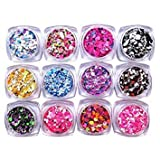 Toogoo Nail Art Glitter Powder Dust for Uv Gel Acrylic Powder Sequins Decoration