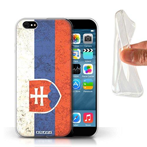 Stuff4® Gel TPU Hülle/Case für Apple iPhone 6S / Slowakei/Slowakisch Muster/Flagge Kollektion