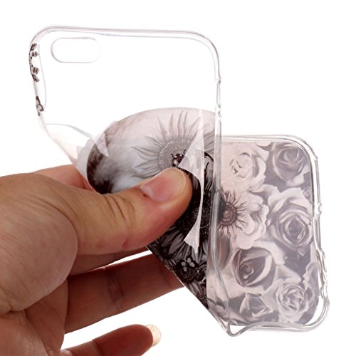"""Coque pour iPhone 6S / iPhone 6 , IJIA Transparent Hibou TPU Doux Silicone Bumper Case Cover Shell Housse Etui pour Apple iPhone 6S / iPhone 6 (4.7"""") XS71"""