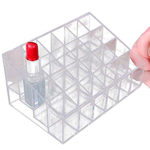 Koly Rangement Rouge à LèVres Acrylique 24 Lipstick Holder Support PréSentoir Organisateur CosméTiques Cas De Maquillage