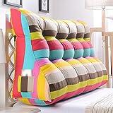 LJHA Kissen lumbalen Kissens doppelte Person Bett Kopf Kissen Dreieck Sofa gepolsterte Rückenlehne große Taille Kissen im Bett (Farbe : D, größe : 200cm)