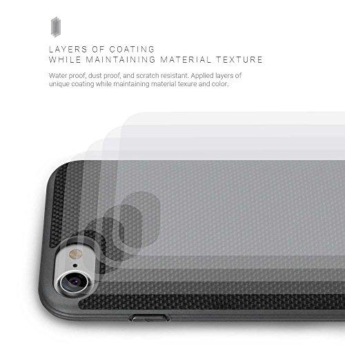 Evutec AP-007-MK-B02 Aergo Ballistic Nylon Ergonomische kratzfest leicht Schutzhülle für Apple iPhone 7, 11,9cm Afix Mount grau schwarz