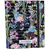 Carpeta Equipada ACCESORIZE Flores, Din-A4 4 Anillas 30 mm.
