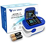 DR VAKU® Swadesi Finger Tip Pulse Oximeter, Multipurpose Digital Monitoring Pulse Meter Rate with PI Index & SpO2 with Battery - Blue