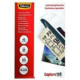 Fellowes 53093 Laminierfolien Capture 125 Mikron, DIN A2 (50er Pack)