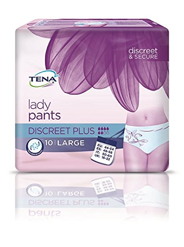 TENA Lady Pants Discreet Plus - Gr. Large (44-54) - PZN 10186862 - (60 Stück).