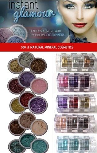 Itay (Gold,Pink,Glitter,Dune,Green) 5x3 Stacks Shimmers Mineral Lidschatten Eye Shadows (Mineral Make-up Stack)