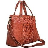 STILORD 'Mara' Elegante Handtasche geflochtenes Leder mit abnehmbaren Schulterriemen Abendtasche...