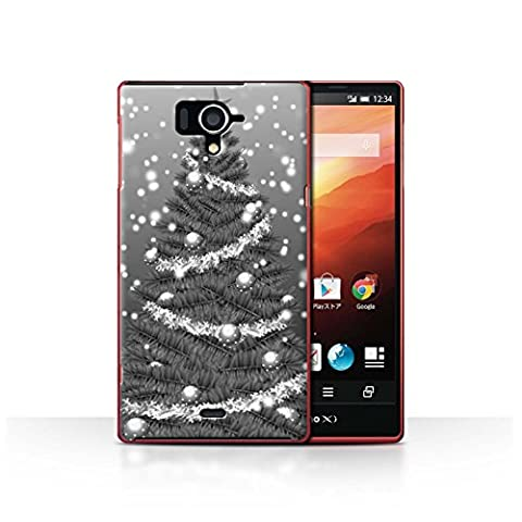 Coque de Stuff4 / Coque pour Sharp Aquos Zeta SH-04F / Gris Design / Sapin/Arbre de Noël Collection
