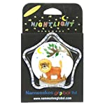 Nightlights : Lion : Size 9 x 9 x 4.5cm : Battery-operated Night Lights : Handcrafted Wooden Designs Mounted on a Plastic Unit : A Popular Gift for Children