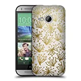 Head Case Designs Offizielle Cat Coquillette Gold White Queen Anne Lac Muster 4 Ruckseite Hülle für HTC One Mini 2