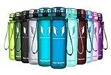 Super Sparrow Trinkflasche - Sports Wasserflasche - 500ml &1000ml - Eco Friendly & BPA-freiem Kunststoff - Ideale Sportflasche - für das Laufen, Fitness, Yoga, Im Freien und Camping - Schnelle Wasserdurchfluss , Flip Top, öffnet sich mit 1-Click - Wiederverwendbare mit dicht schließendem Deckel (Methylblau, 500ml-17oz)