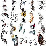 WANZIJING Make-up-Aufkleber, Insekt Skorpion Spinnenkäfer Temporäre Tätowierung Aufkleber Tattoo...