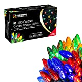 Christmas Workshop 80 Multi-Coloured LED Lights ~ Candle Chaser~ Indoor and Outdoor ~ Christmas, Weddings & Gardens ~ 8 Functions ~ 75370
