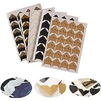 DIY Papel Pegatinas, Yigo 240pcs/lot (10hojas) bricolaje vintage esquina pegatinas de papel Kraft para álbumes de fotos marco decoración Scrapbooking