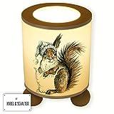 ilka parey wandtattoo-welt Tischlampe Schlummerlampe Kinderlampe Nachttischlampe mit SchalterEichhörnchen Ready to Dream tl029