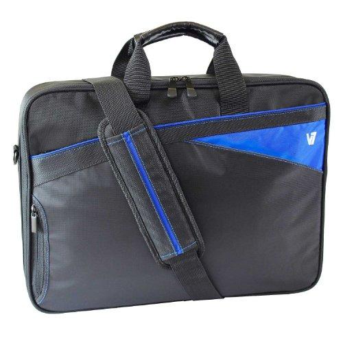 V7 CCD1-BLU-9E Edge Frontloader Notebook Tasche bis 40,9cm (16,1 Zoll) schwarz / blau