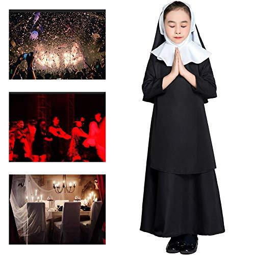 JH&MM Halloween Kostüm Mädchen Priester Nonne Kleid