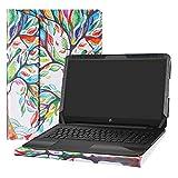 Alapmk Diseñado Especialmente La Funda Protectora de Cuero de PU Para 15.6' HP Notebook 15 15-daXXXX Series Ordenador portátil (No compatible con: 15-bsXXX/15-bwXXX/15-acXXX/15-ayXXX Series),Love Tree