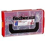 Fischer 541106 FIXtainer - Die Power- und Schlauer-Box, Dübelset DUOPOWER und DUOTEC, Universaldübel und Kippdübel, 200 Teile