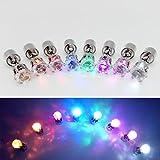 wandlee 8Bright stylische LED-Ohrringe Glowing Diamond Crown Form Ohrstecker, leuchtender Blinken Ohrring Dance Party Fan Club Zubehör