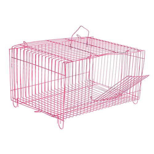SM SunniMix Faltbar Käfig Transportkäfig Drahtkäfig für Vögel/Kleintiere/Kaninchen